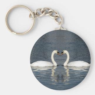 2 Swans Key Ring