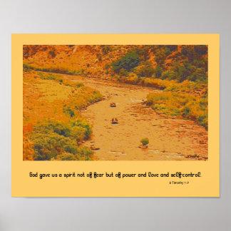 2 Timothy 1:7  landscape Poster