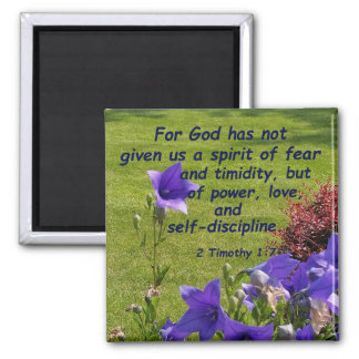 2 Timothy 1:7 Square Magnet