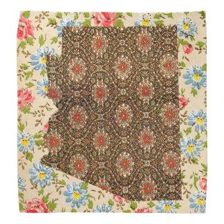 2 tone Floral Arizona State bandana