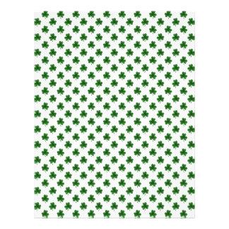 2-Tone Shamrock Green on White St.Patrick's Clover Flyer Design
