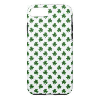 2-Tone Shamrock Green on White St.Patrick's Clover iPhone 7 Case