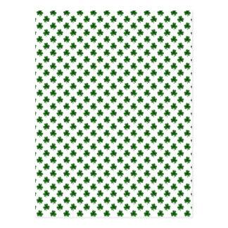 2-Tone Shamrock Green on White St.Patrick's Clover Postcard