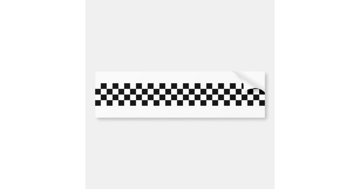 2 Tone Ska Checks Bumper Sticker Zazzle Co Uk