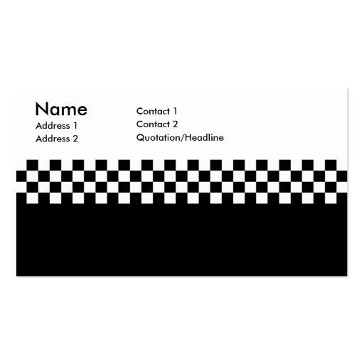 2-Tone Ska Checks Business Cards