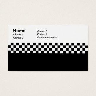 2-Tone Ska Checks Business Card