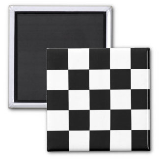 2-Tone Ska Checks Square Magnet