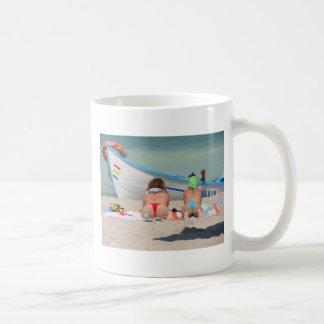 2 topless Girls RK the beach - Vama Veche Romania Basic White Mug
