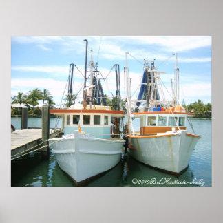 2 trawlers, ©2010BLHeathcote-Shelly Poster