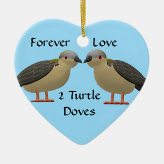 2 Turtle Doves Christmas Ornament