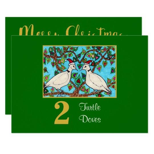 2 Turtle Doves Cute Birds Love Custom Christmas