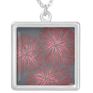 2-Up Dianthus II Silver Plated Necklace