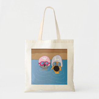 2 Water logged Dogs! Budget Tote Bag