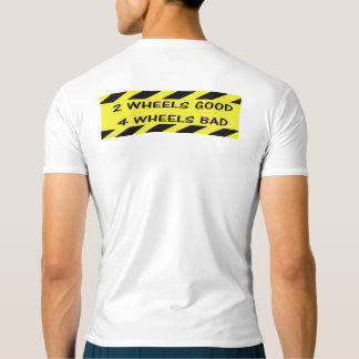"""2 wheels good"" cycling active tops for men"