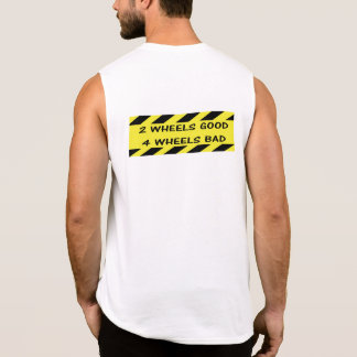 """2 wheels good"" cycling tank tops for men"