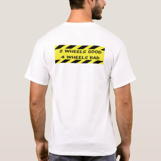 """2 wheels good"" cycling tees for men"