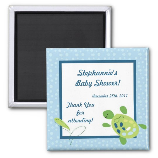 "2""x2"" Favour Magnet Turtle Reef Ocean Sea Turtle"