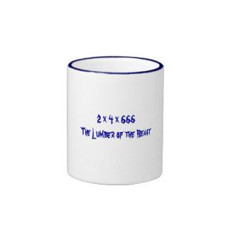 2 x 4 x 666   The Lumber of the Beast Ringer Coffee Mug