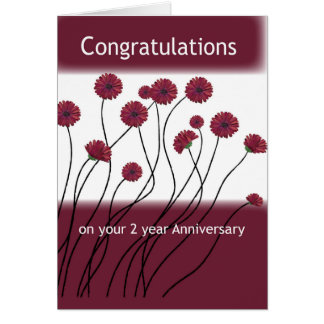 2 Year Anniversary 12 Step Addiction Recovery Flow Greeting Card
