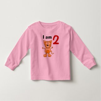2 year old birthday boy/girl gift (orange cat) toddler T-Shirt