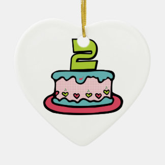 2 Year Old Birthday Cake Christmas Ornament