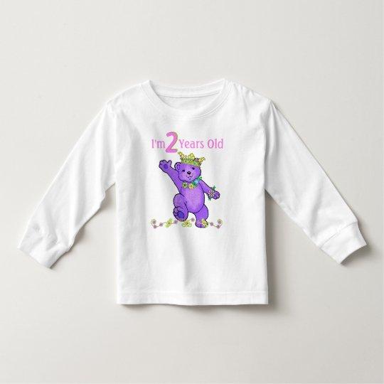 2 Year Old Birthday Princess Bear Toddler T-Shirt