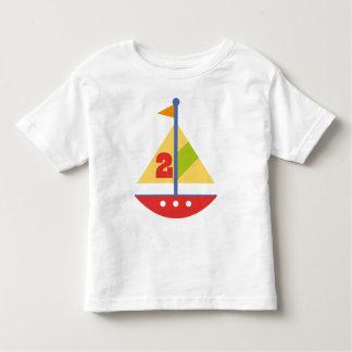 2 Year Old Birthday Sailboat Toddler T-Shirt