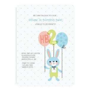 2 year old birthday invitations zazzle 2 year old bunny birthday invitation stopboris Choice Image