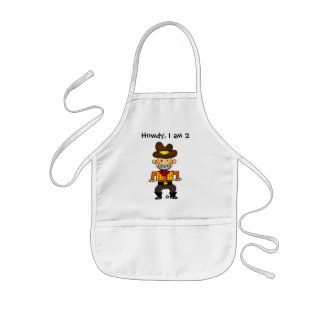 2 year old cowboy kids apron