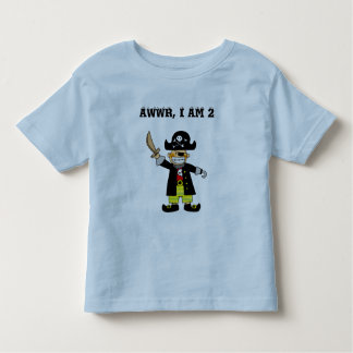 2 year old pirate boy toddler T-Shirt