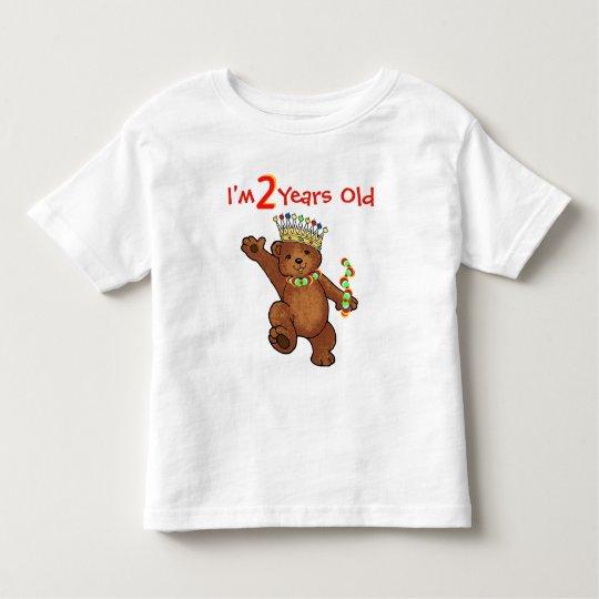 2 Year Old Royal Bear Birthday Toddler T-Shirt