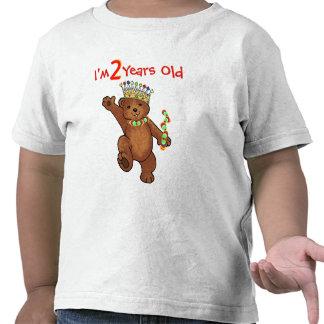 2 Year Old Royal Bear Birthday Shirts
