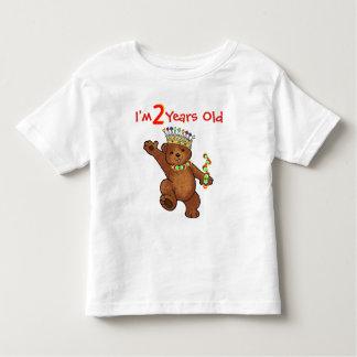 2 Year Old Royal Bear Birthday T-shirt