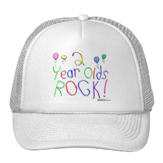 2 Year Olds Rock ! Hats