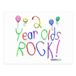 2 Year Olds Rock ! Postcards