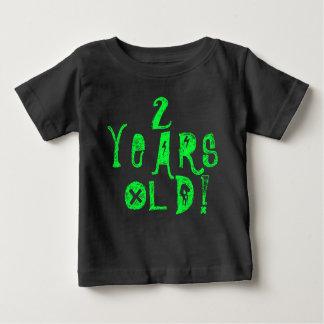 2 years old cute baby shirt neon skull rock