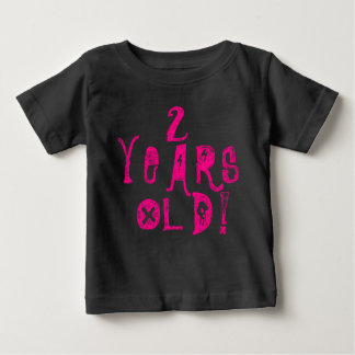 2 years old cute baby shirt neon skull rock pink