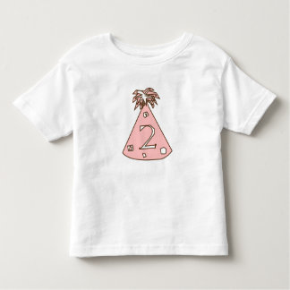 2 YEARS OLD- PINK BIRTHDAY HAT TODDLER T-Shirt