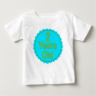 2 Years Old Teal & Lime Baby Outfit T-shirt