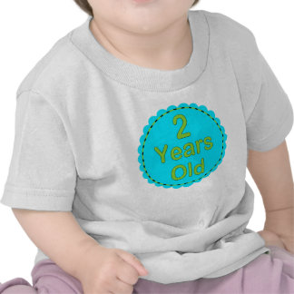 2 Years Old Teal & Lime Baby Outfit Tshirts