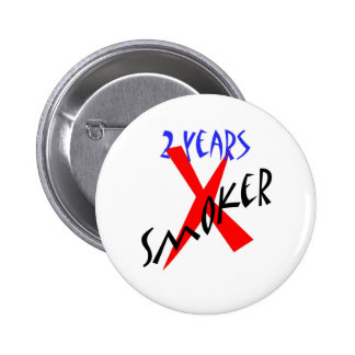 2 Years Red X-smoker 6 Cm Round Badge