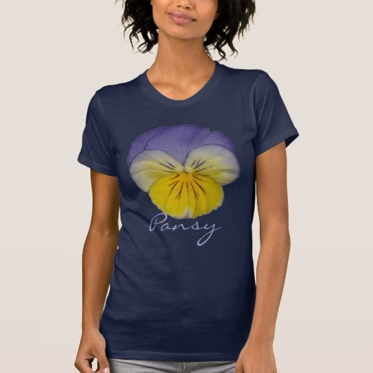 2a Pansy Yellow Blue T-Shirt