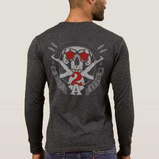 2A (Second Amendment) Est. 1776 Henley Long Sleeve Shirt