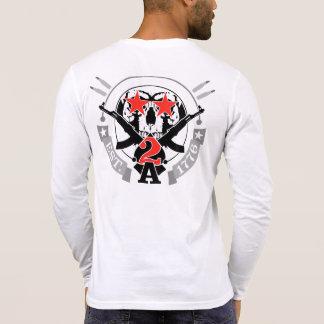 2A (Second Amendment) Est. 1776 Henley Long Sleeve Tshirts