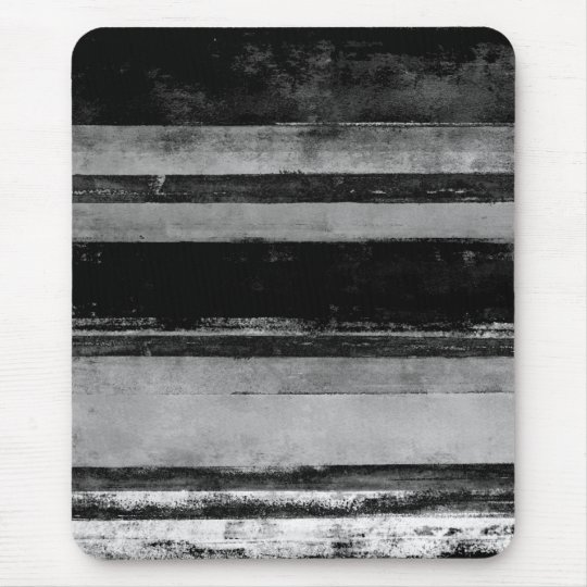 '2AM' Black and White Abstract Art Mouse Mat