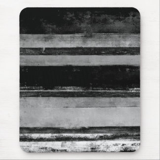 '2AM' Black and White Abstract Art Mouse Pad