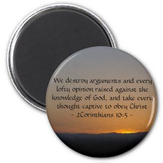 2Corinthians 10:5 Fridge Magnets
