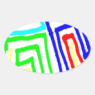 2d89b oval sticker