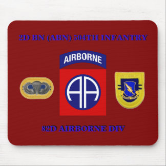 2D BN 504TH INFANTRY 82d AIRBORNE MOUSEPAD