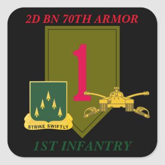 2D BN 70TH ARMOR 1ST INFANTRY STICKERS